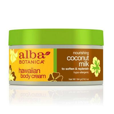 Alba Botanica Hawaiian Body Cream Coconut Milk 184g
