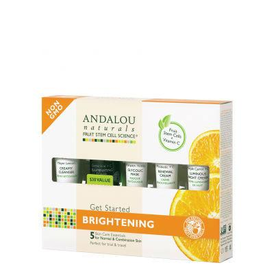 Andalou Naturals Get Started Brightening Kit (Trial and Travel Kit)