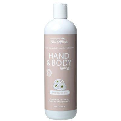 Biologika Hand & Body Wash 500mL Fragrance Free