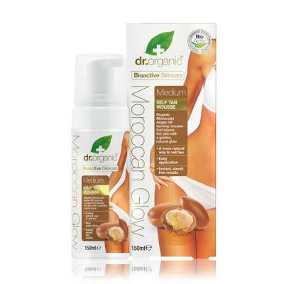 Dr Organic Self Tan Mousse Organic Moroccan Argan Oil 150mL