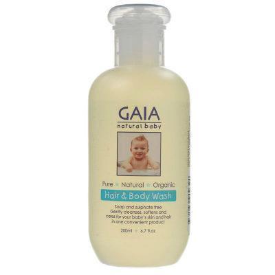 Gaia Natural Baby Bath & Body Wash 500mL Pump
