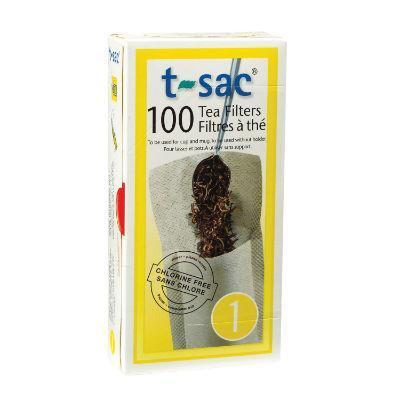 T-Sac Tea Filters 100 Pack Unbleached (Size 1 - for cup or mug)